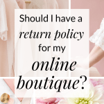 how to create a return policy for an online boutique