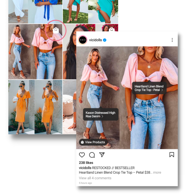tag products on instagram shop to start your online boutique