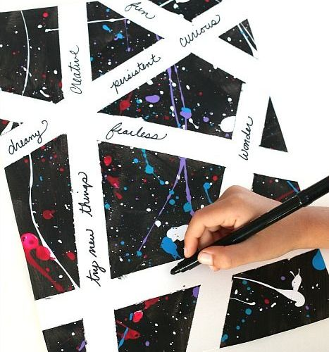 Inspirational Splatter Paint Art Project for Kids – Buggy and Buddy