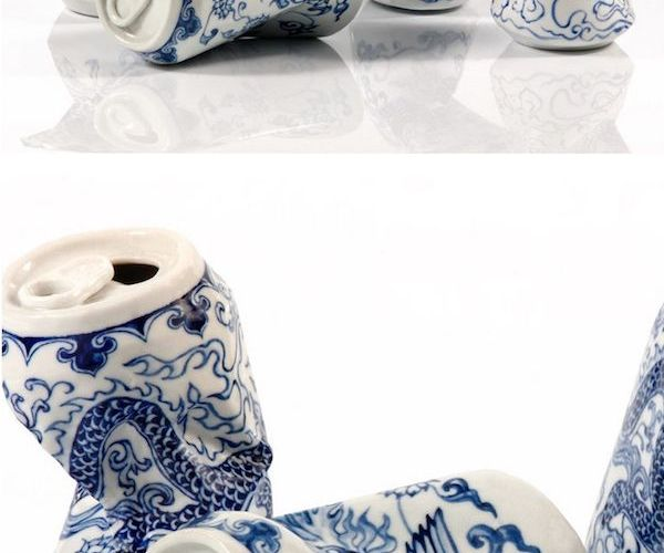 Artist Lei Xue skillfully sculpts and paints porcelain sculptures that look like…