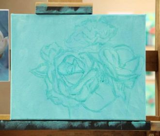"""Underpainting Start your painting by creating a """"sketch"""" of the image in paint. …"""