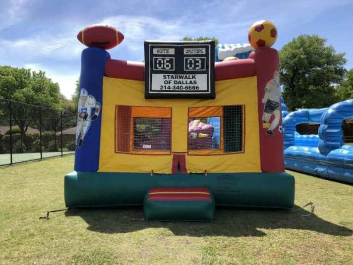 Sports jump bounce house rental
