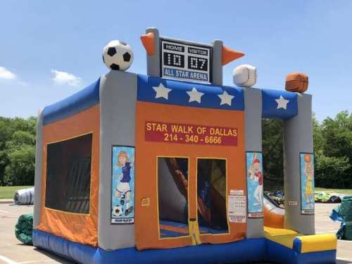 Sports combo bounce house with slide