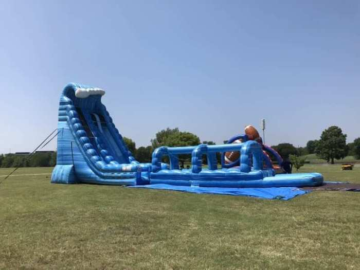 huge water slide dallas