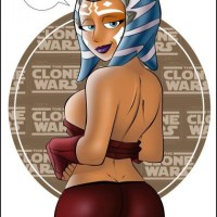 looks like ?Ahsoka hot ass and body whating for a master to tech her a hard lession.