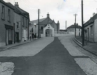 barrack street and catholic church ballymore eustace