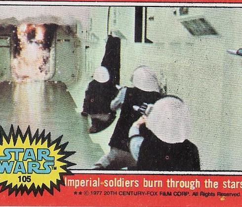 rebels star wars trading card 1977
