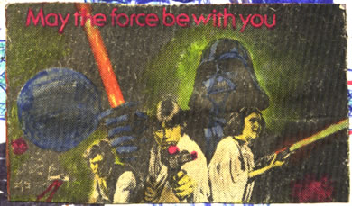 stuck-on cinema page picture of star wars 1977