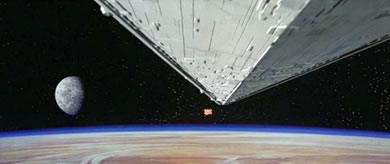 imperial destroyer flies overhead