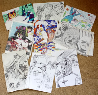 selection of star wars drawings