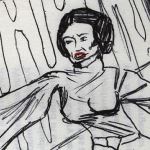 Princess Leia with big boobs comic page detail image