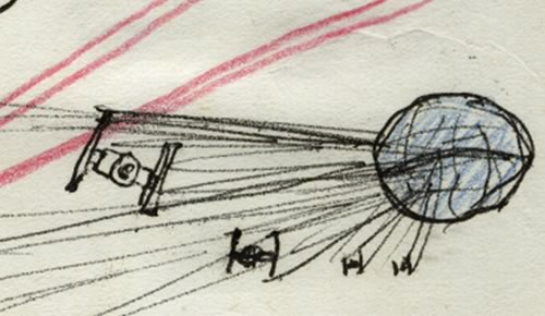 more TIE Fighters in a detail image from a kid's star wars comic