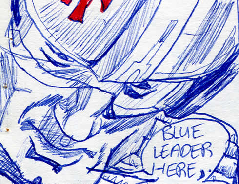 Star Wars Blue Squadron Leader in a star wars comic page detail image