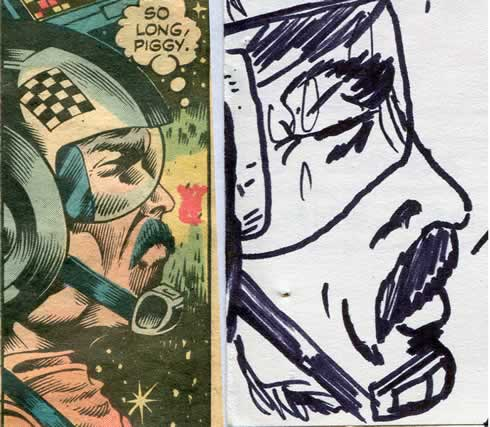 star wars comic page detail image