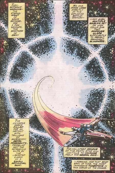 marvel comic destruction of the death star
