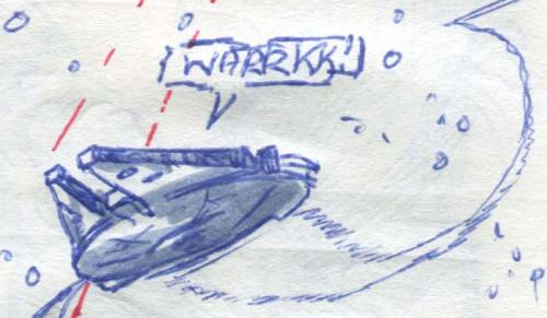 millennium falcon on th run from imperial star destroyers comic page detail