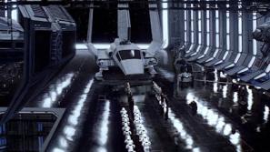 An Imperial-style hangar