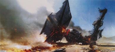 Concept Art - TIE-Fighter Down