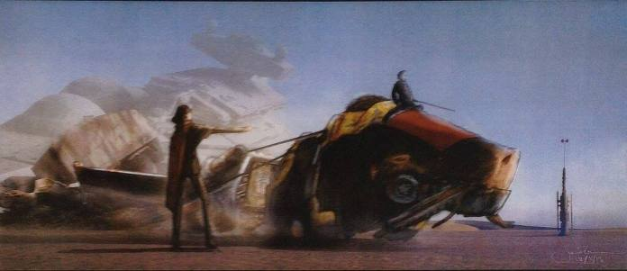 Concept Art - X-Wing Towing Pig