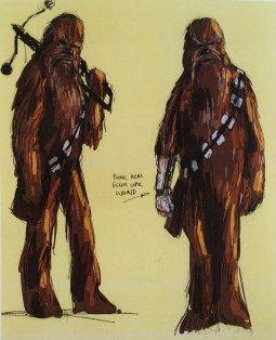 Concept Sketch - Chewbacca Cybernetic