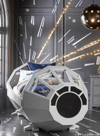 Millennium Falcon Bed Lightspeed Mural by Pottery Barn ...