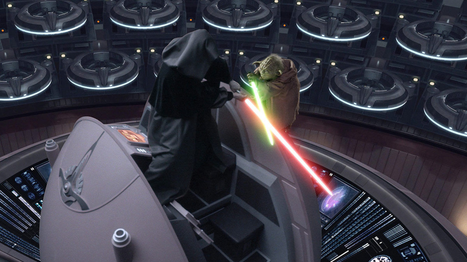 Image result for star wars 3 battle yoda vs palpatine