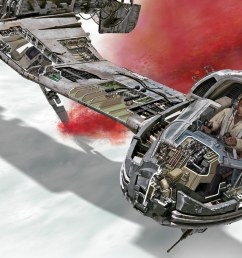 step inside the galaxy s newest ships and vehicles with star wars the last jedi incredible cross sections exclusive interview [ 1536 x 864 Pixel ]