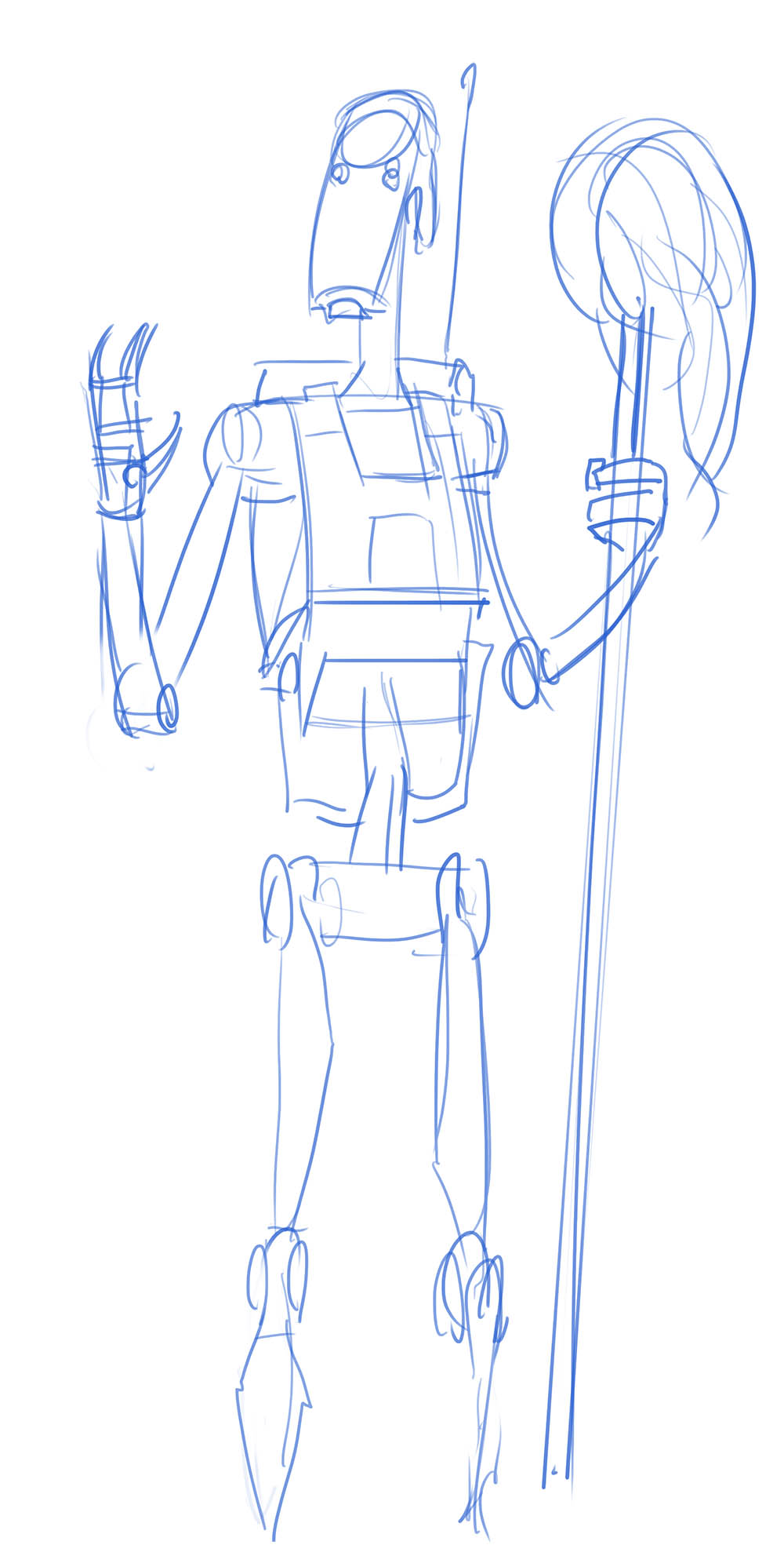How To Draw A Battle Droid : battle, droid, Wars:, Droidography,, Sketch, Exclusive, StarWars.com