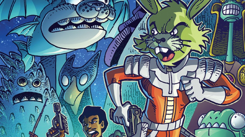 Jaxxon on the cover of Star Wars Adventures Annual