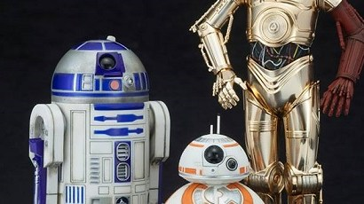 #shortcut: Kotobukiya zeigt C-3PO & R2-D2 with BB-8 aus The Force Awakens