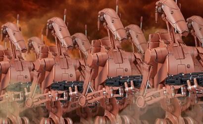 Bandai Geonosis Battle Droid Set im Maßstab 1:12 präsentiert