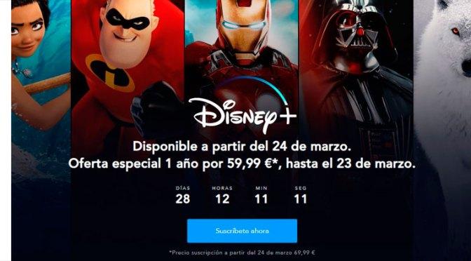 Oferta de prelanzamiento de Disney+ para España