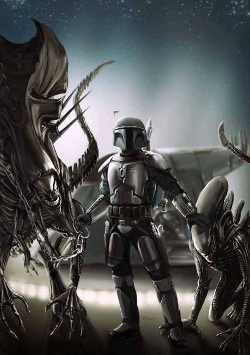 Boba Fett VS Aliens Wallpaper (Fan Fiction) 1