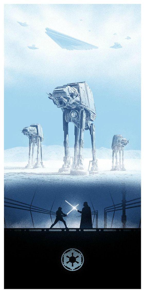 The Empire Strikes Back (El Imperio Contraataca) Battle of Hoth, Luke VS Vader. 1