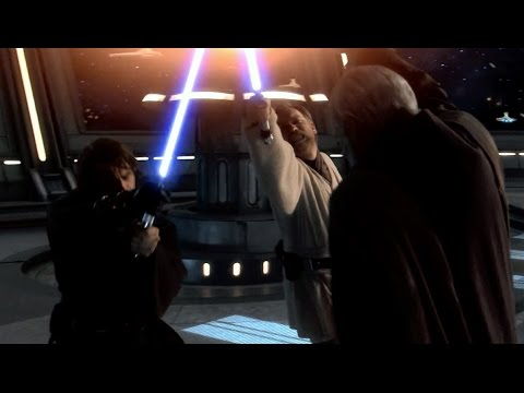 Obi-Wan and Anakin vs Count Dooku - Revenge of the Sith