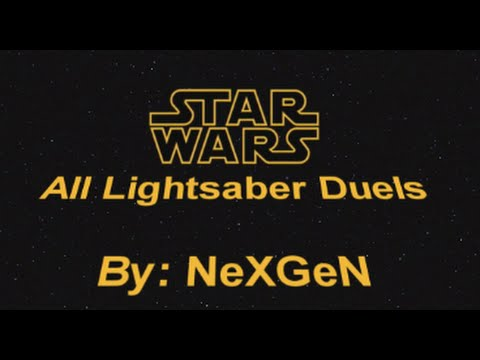 Star Wars - All Lightsaber Duels