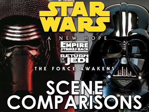 Star Wars: Force Awakens and Original Trilogy - scene comparisons 7