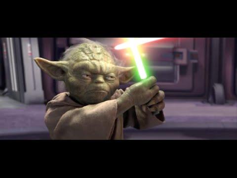 Star Wars Revenge of the Sith - Yoda VS Palpatine (Darth Sidious).