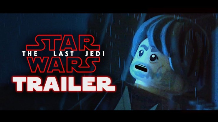 Star Wars: The Last Jedi Official Trailer in LEGO
