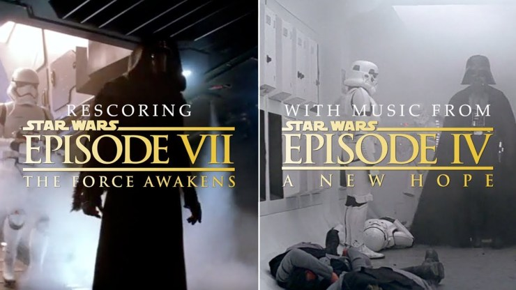 Rescoring The Force Awakens with the New Hope Soundtrack