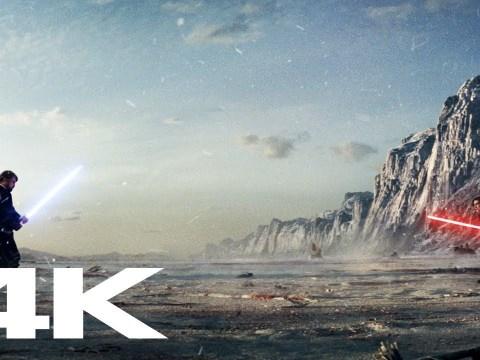 Star Wars: The Last Jedi - LUKE VS KYLO (4K) + Ending Scenes 7