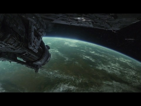 The Last Jedi Opening Scene HD BLURAY Quality - First Order Fleet Arrives