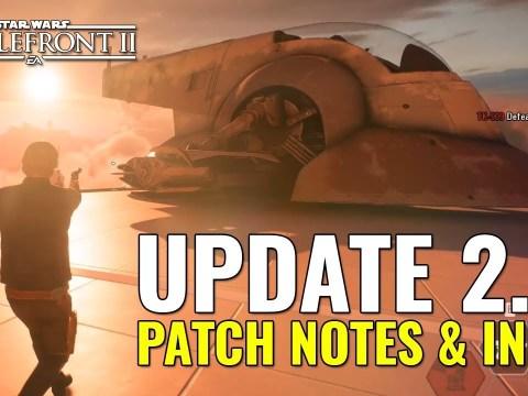 Update 2.0 DETAILS - Star Wars Battlefront 2 - Patch Notes & Info
