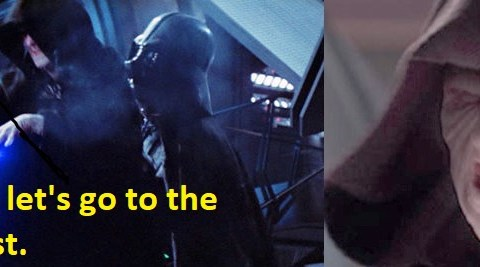 Palpatine going to the dentist.