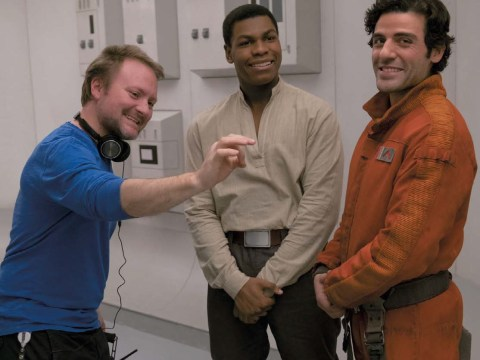 RIAN JOHNSON DIRECTOR ON SET 2