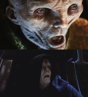 The evil side of Star Wars (Snoke and Palpatine)