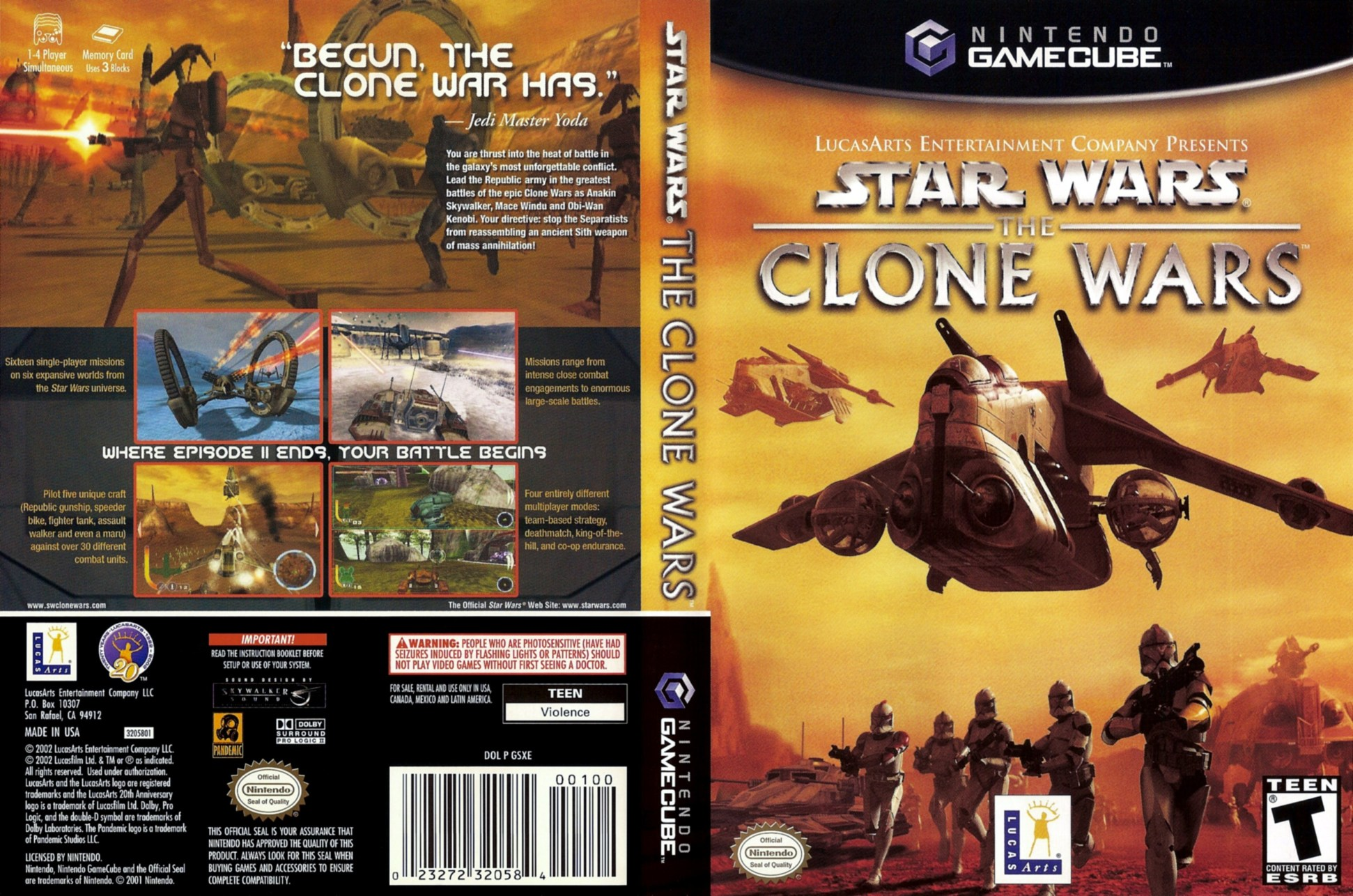 Download Star Wars The Clone Wars (Nintendo GameCube) Emu+Rom