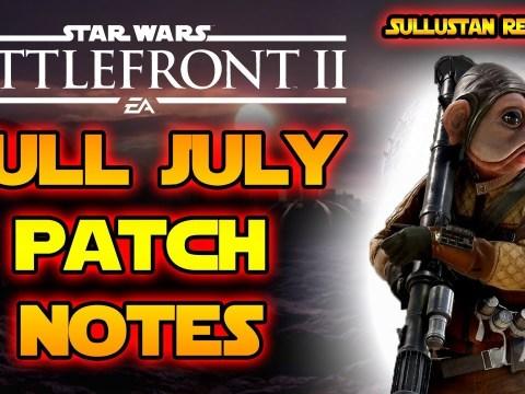 July Full Patch Notes & Release Date! Sullustan Skin, New Game Mode & More! Star Wars Battlefront 2!