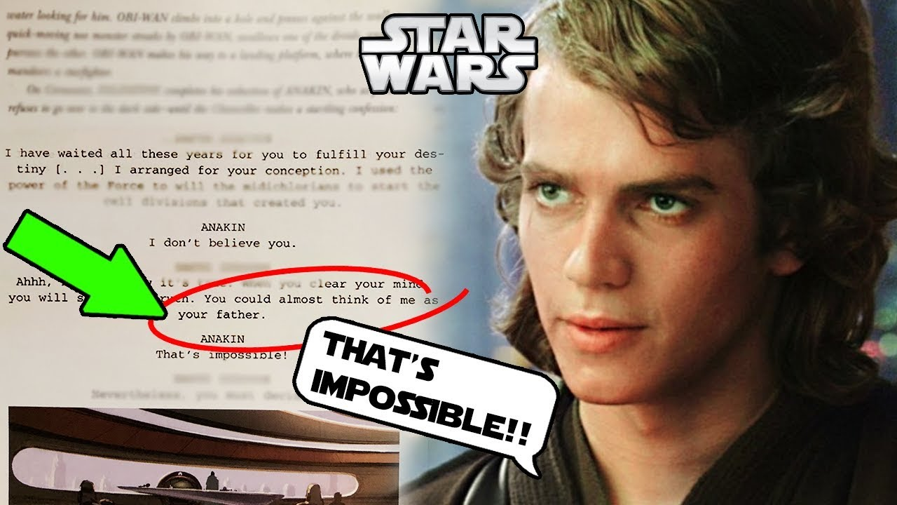 Anakin S Father Revealed In Script Of Revenge Of The Sith