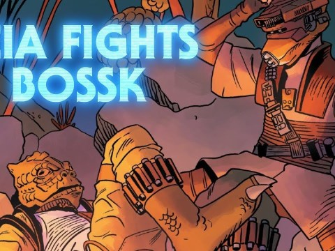 Leia Fights Bossk - Age of Rebellion: Princess Leia Review and Analysis